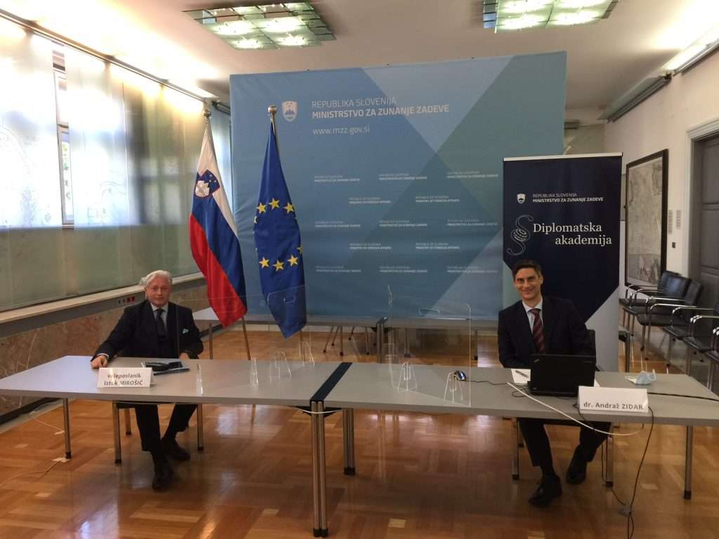 Ambassador Mirošič guest at a round table organized by the Diplomatic Academy